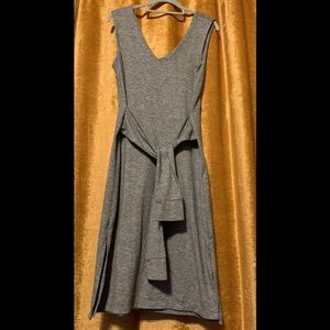 Gray dress w front or back waist tie forever 21